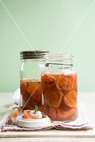 Guavas in spicy sugar syrup