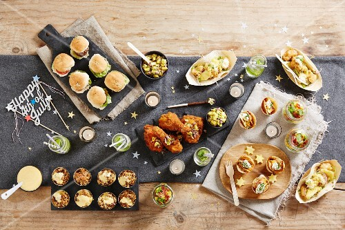 A festive party buffet