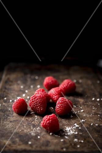 Several raspberries