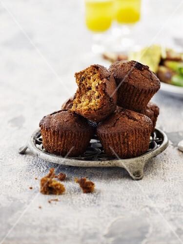 Muffins with hazelnuts