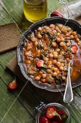 Zuppa di ceci (chickpea soup, Italy)