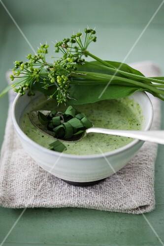 Hearty wild garlic soup