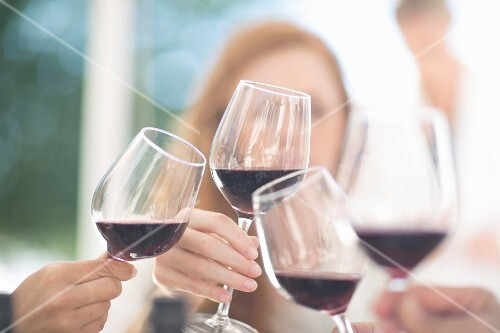 A red wine tasting session