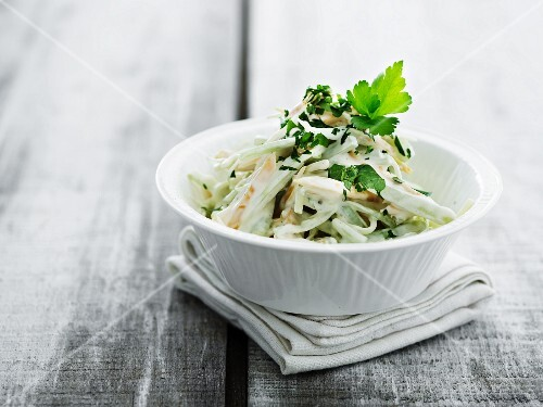 Coleslaw with parsley