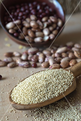 Amaranth and beans