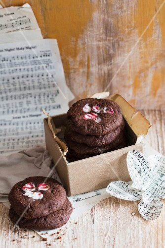 Chocolate peppermint cookies for Christmas