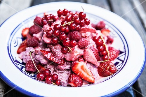 Risotto with Prosecco and fresh berries