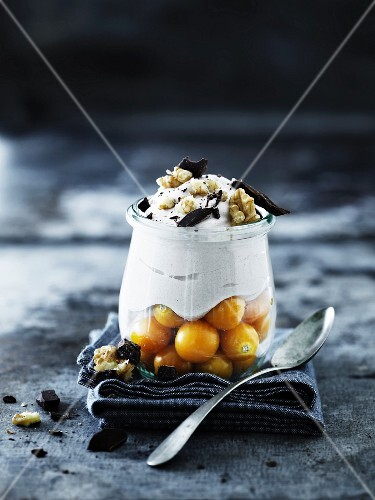 Yoghurt mousse with physalis