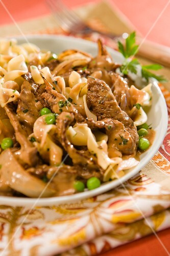 Beef stroganoff with pasta