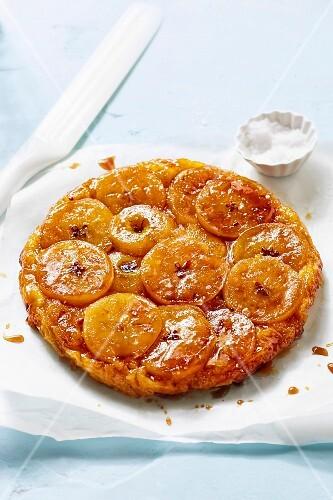 Tarte Tatin caramelized upside-down apple tart