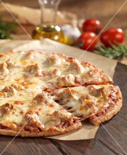 Gluten-free pizza with Italian sausage