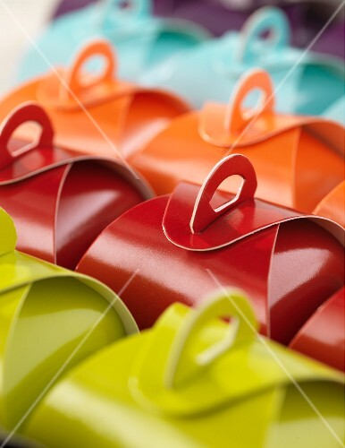 Colourful praline boxes