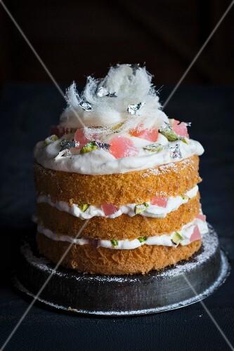 Turkish orange blossom cake