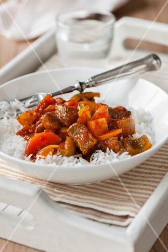 Beef curry with rice