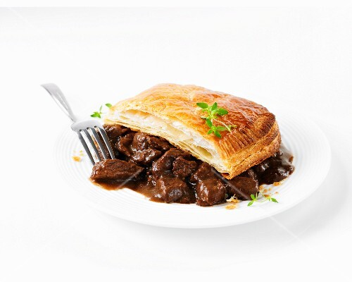 A portion of Scotch steak pie