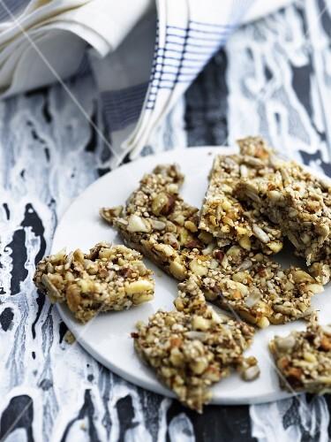 Homemade nut bars
