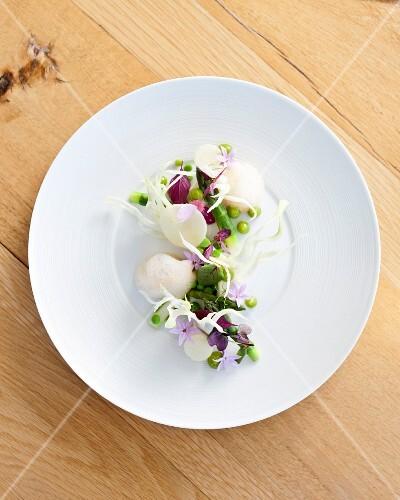 Fenchel Panna Cotta mit Gemüse
