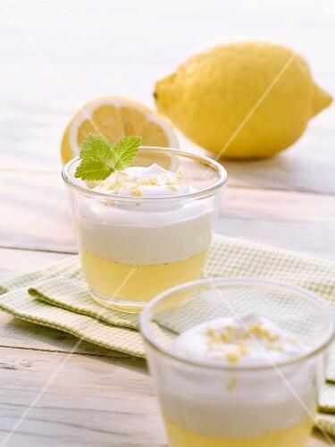 Lemon cream with whipped cream