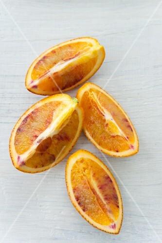 Blood orange wedges
