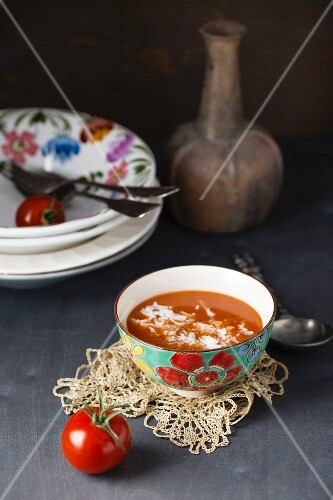 Tomato soup with rice