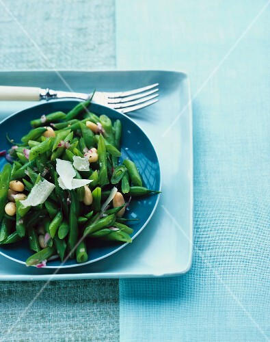 Green bean salad with Parmesan cheese
