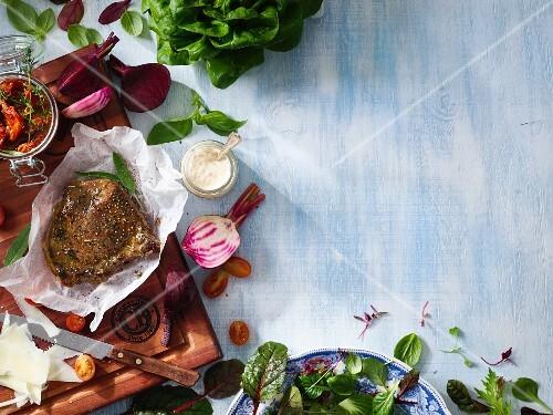 Rump steak with herbs