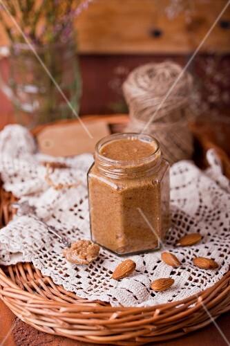 A jar of almond cream