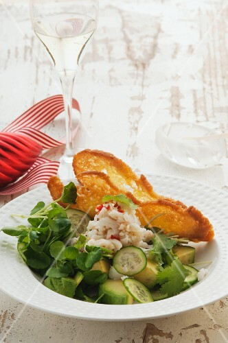 Crab and avocado salad for Christmas