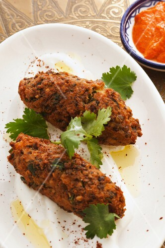 Vegetable kofta with harisSouth African (North Africa)
