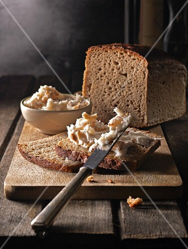 Bread with homemade lard