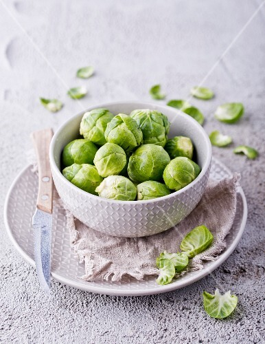 Brussels sprouts in a dish