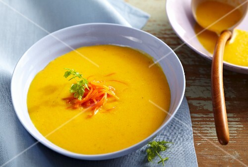 Carrot and papaya soup