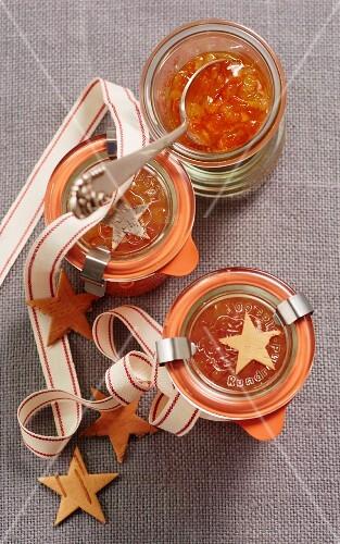 Papaya salsa with honeydew melon as a Christmas present