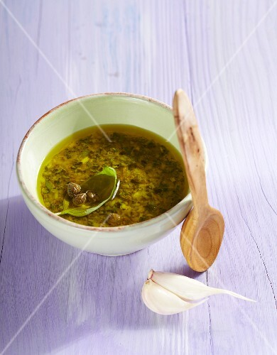 Herb vinaigrette with capers