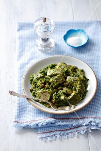Herring with salsa verde