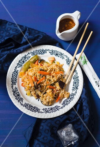 Fried rice with vegetables (Asia)