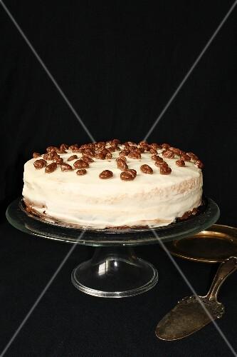 Chocolate cake with yoghurt cream
