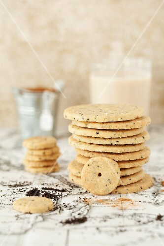 A stack of chai tea biscuits