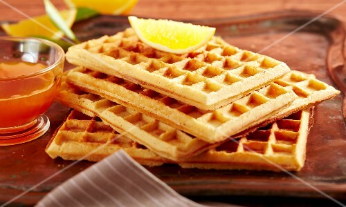 Waffles with orange syrup (Arabia)