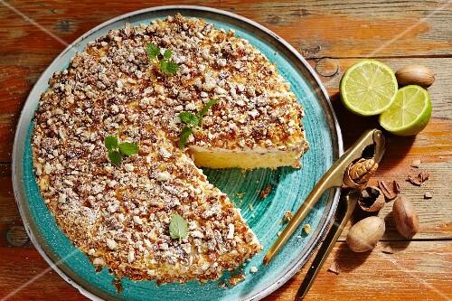 Palanqueta de nuez (pecan nut brittle cake, Mexico)