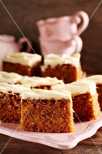Carrot cake tray bake with cream cheese frosting