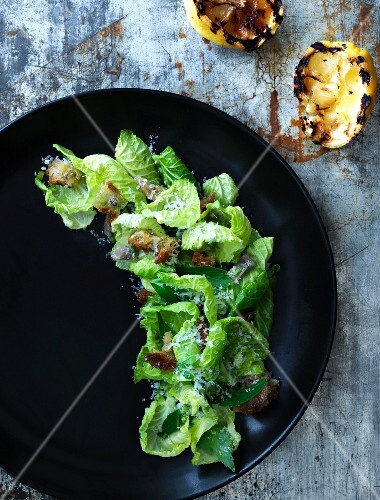 Brussels sprouts salad with anchovies