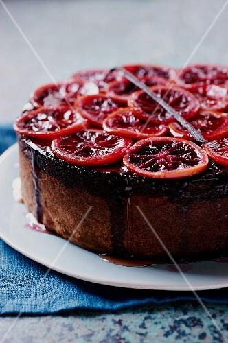 Blood orange cake (detail)
