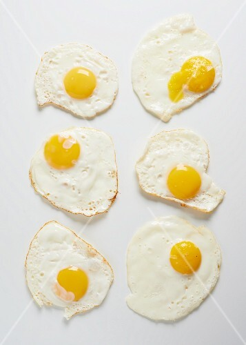 Six fried eggs