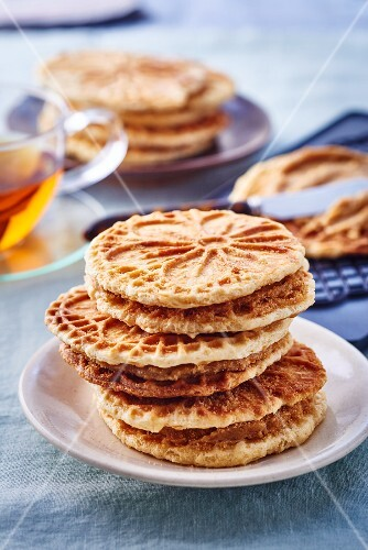 Waffles with brown sugar and rum