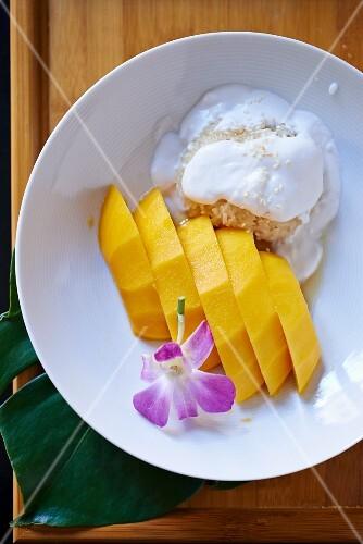 Sticky rice mango (Asia)
