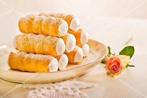 A stack of foam rolls