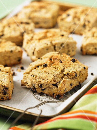 British caramel and currant scones