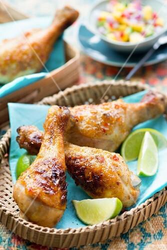 Jerk chicken with limes (Jamaica)