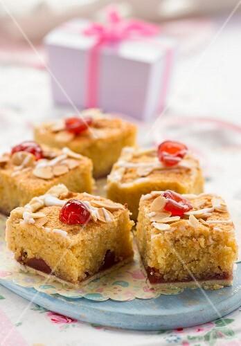 Bakewell tart bites